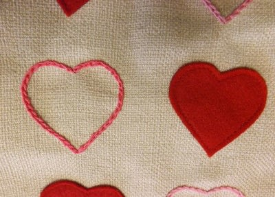 How to make a cushion. Love Heart Cushion - Step 2