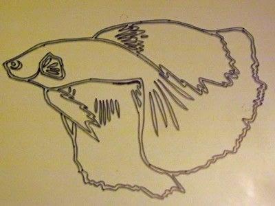How to make silhouette art. Betta Fish Art - Step 3