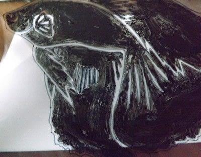 How to make silhouette art. Betta Fish Art - Step 4