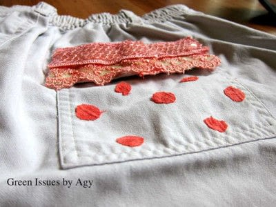 How to make a pair of patched shorts. Itsy Bitsy Teeny Weeny - Step 3