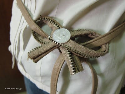 How to make a recycled belt. From Bag To Belt - Step 3