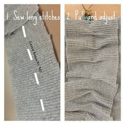 How to recycle a recycled sweater. Upcycle Your Cardigan Into A Top - Step 2