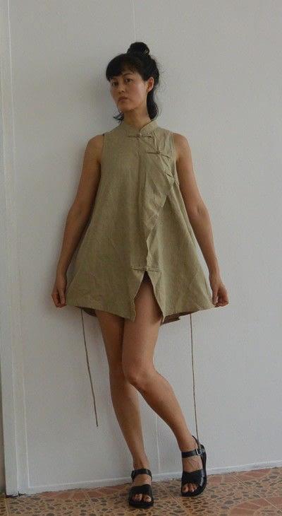 How to sew a romper. Oriental Safari Playsuit - Step 1