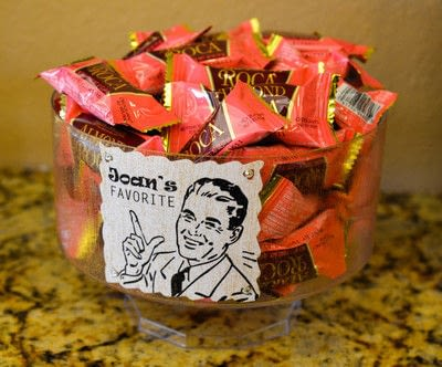 How to decoupage a decoupage pot. Candy Buffet - Step 2