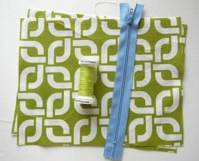 How to make a zipper pouch. Easy Zipper Pouch - Step 1