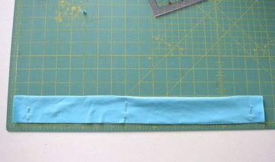 How to make a fabric headband. Easy Workout Headband - Step 1
