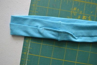 How to make a fabric headband. Easy Workout Headband - Step 5