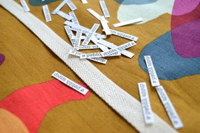 How to make a packaging labels. Make Your Own Sewing Labels - Step 2