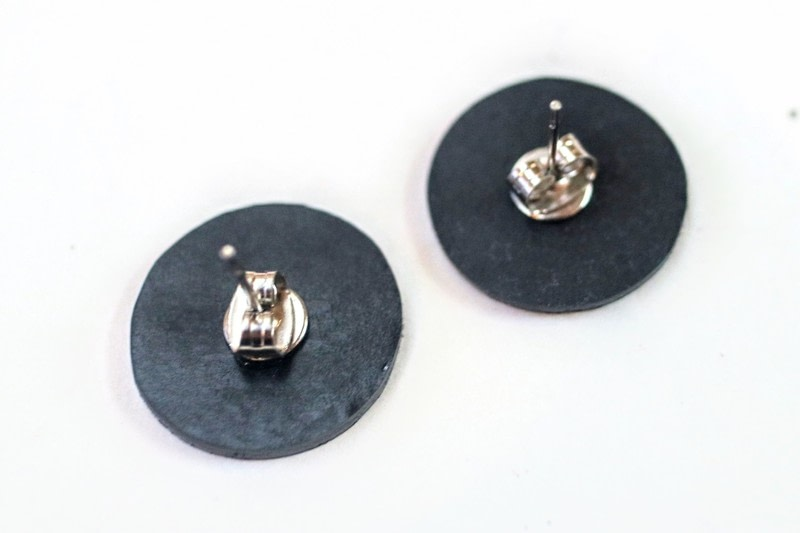 Vinyl Record Stud Earrings 183 How To Make A Stud Earring