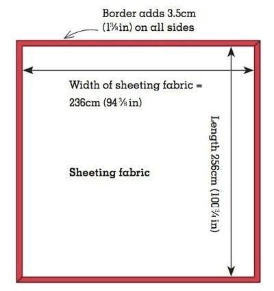 How to make a duvet. Light Bedspread - Step 2