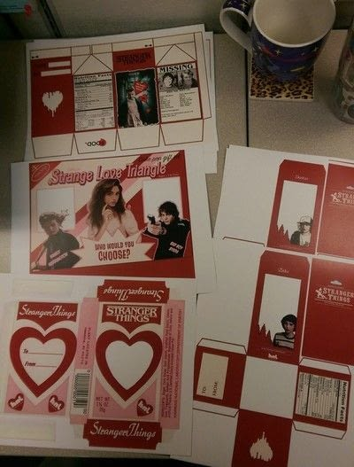 """How to make a box. """"Stranger Things"""" Valentine Boxes - Step 1"""