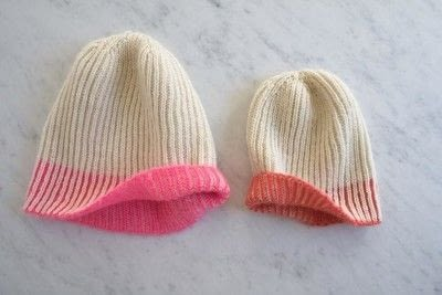 How to make a beanie. Purl Soho's Color Dipped Hats - Step 6