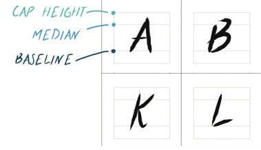 How to make a fonts. DIY Hand Lettered Typeface - Step 8