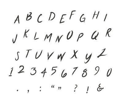 How to make a fonts. DIY Hand Lettered Typeface - Step 18