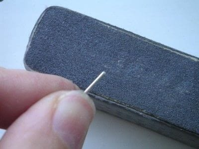 How to make a stud earring. Alternative ..Add A Disc To An Earring Post - Step 9