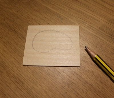 How to make a wooden brooch. Artists Palette Brooch - Step 2