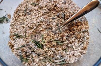 How to bake a cracker. Rosemary Oatcakes - Step 2