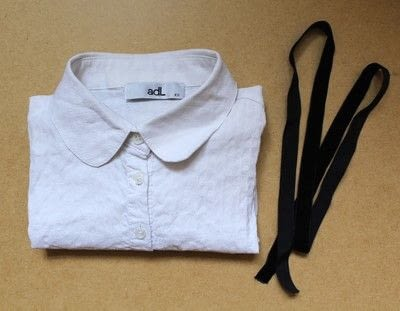 How to make a collar / bib. Diy Bow Tie Collar Blouse - Step 1
