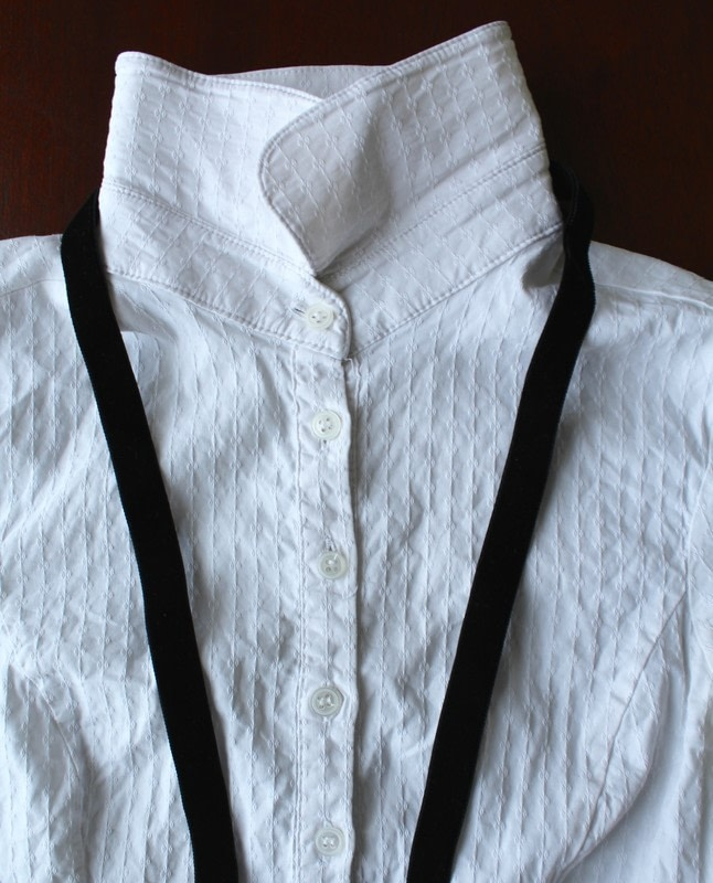 Diy Bow Tie Collar Blouse How To Make A Collar Bib