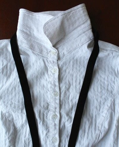 How to make a collar / bib. Diy Bow Tie Collar Blouse - Step 2