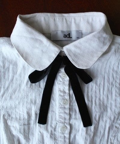 How to make a collar / bib. Diy Bow Tie Collar Blouse - Step 4