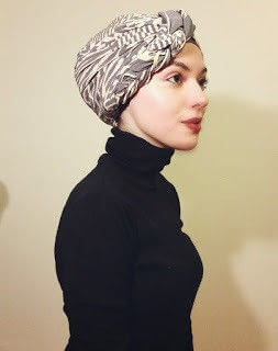 How to make a scarf. Braided Turban Hijab - Step 6