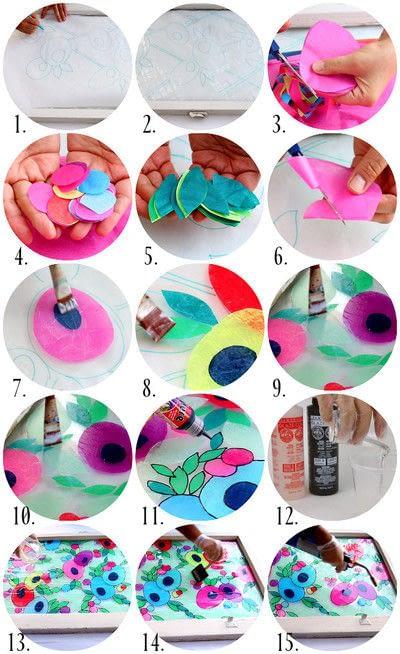 How to make a decoration. Tissue Paper Stained Glass - Step 2