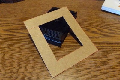 How to make a recycled photo frame. Recycled Instax Film Cartridge Frames - Step 3