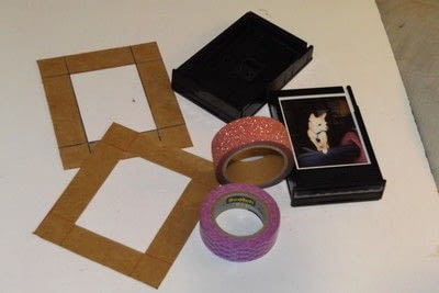 How to make a recycled photo frame. Recycled Instax Film Cartridge Frames - Step 4