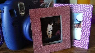 How to make a recycled photo frame. Recycled Instax Film Cartridge Frames - Step 8