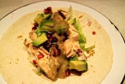 How to cook a taco. Salmon, Avocado & Pomegranate Tacos - Step 4