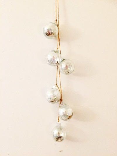 How to make a hanging. Hanging Winter Ornaments - Step 4