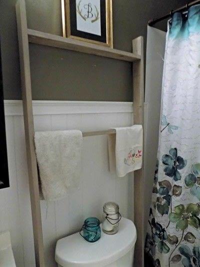 How to make a shelf. Diy Bathroom Ladder - Step 2