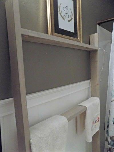 How to make a shelf. Diy Bathroom Ladder - Step 4