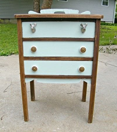 How to make a drawer / dresser. Chalk Paint Antique Cabinet Makeover - Step 3