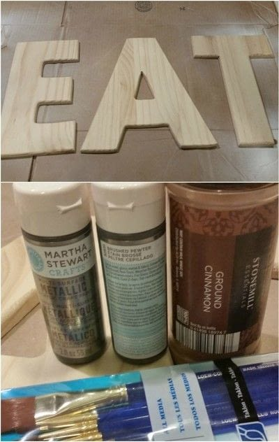 How to make a letter. Industrial Style Galvanized & Rusted Letters - Step 1