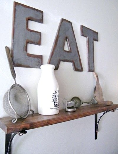 How to make a letter. Industrial Style Galvanized & Rusted Letters - Step 3