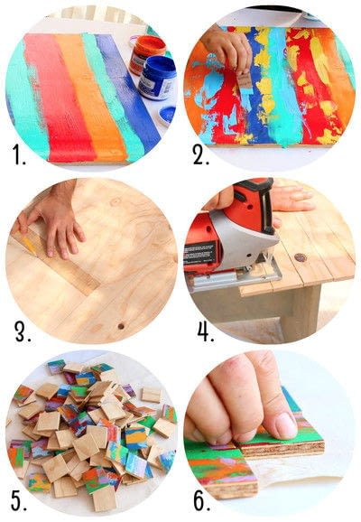 How to make a mat/rug. Abstract Wood Rug - Step 2