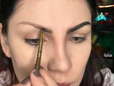 How to makeover an eyebrow. How To Fill Very Sparse Brows  - Step 2