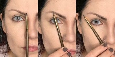 How to makeover an eyebrow. How To Fill Very Sparse Brows  - Step 3
