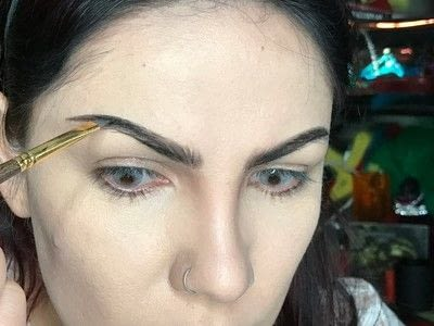 How to makeover an eyebrow. How To Fill Very Sparse Brows  - Step 4