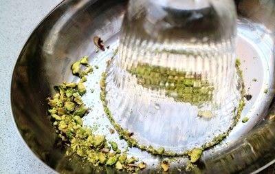 How to mix a flip cocktail. Rose & Pistachio Flip - Step 2