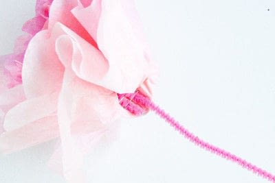 How to make a floral wreath. Super Easy Paper Peony Wreath - Step 2
