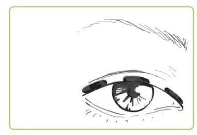 How to create a cat eye. The Feline Flick - Step 1