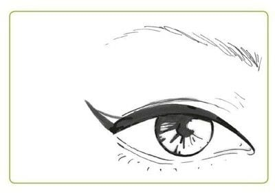 How to create a cat eye. The Feline Flick - Step 3