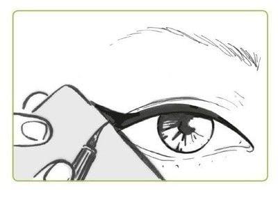 How to create a cat eye. The Feline Flick - Step 5