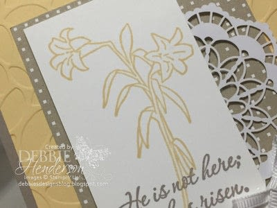 How to make a greetings card. Easter Message - Step 2