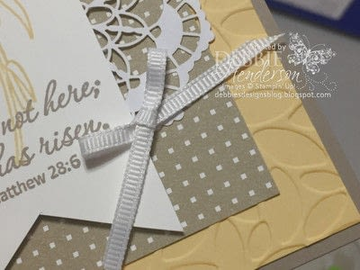 How to make a greetings card. Easter Message - Step 3