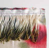 How to make a fabric fringe scarf. Dip Fringed Scarf - Step 3