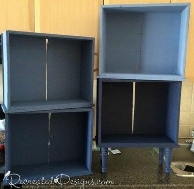 How to make a shelf. Building A Shelf Out Of Drawers - Step 3
